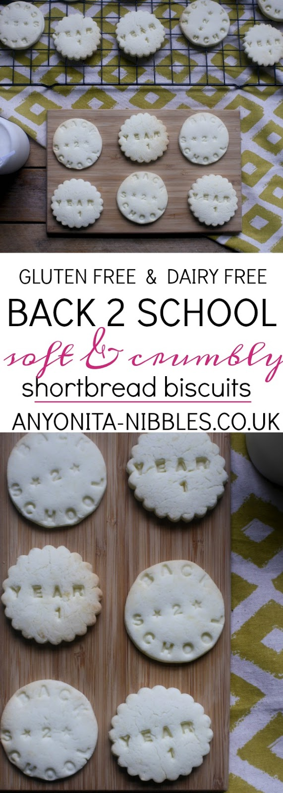 How to make gluten free and dairy free shortbread biscuits