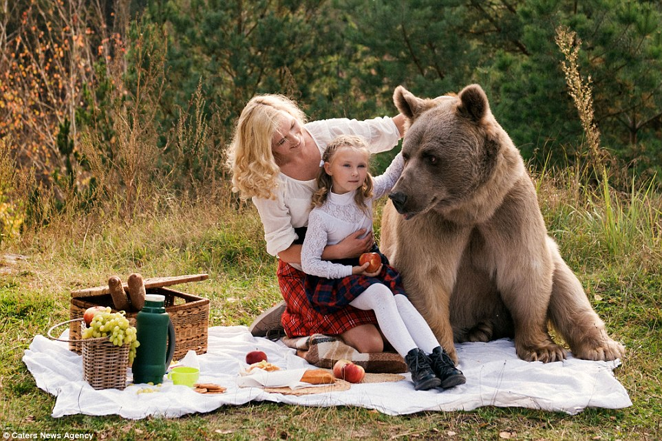 Russian mom and girl