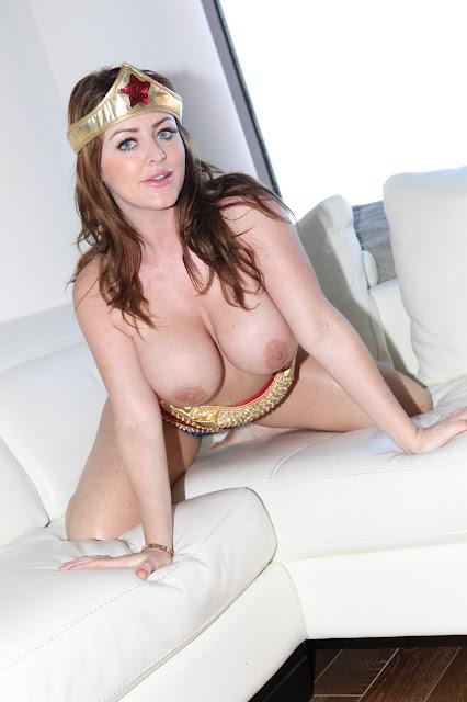 Sophie Dee sexy wonder woman big naked boobs hanging