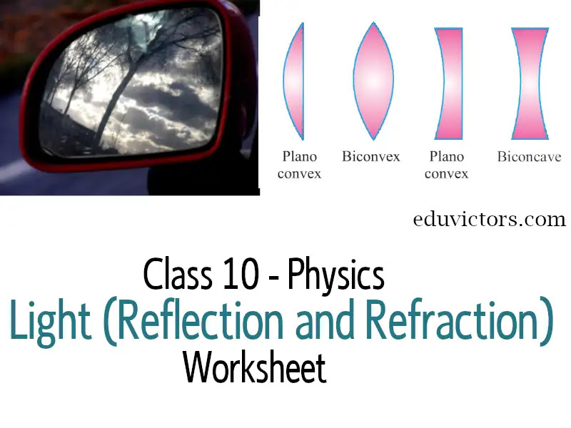 Cbse Papers Questions Answers Mcq Cbse Class 10 Physics Light Reflection And Refraction Worksheet Eduvictors Cbse Class10physics