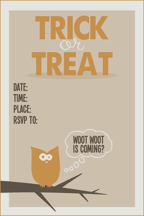 My Owl Barn Free Halloween Invitations