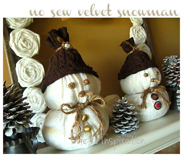 no sew snowman