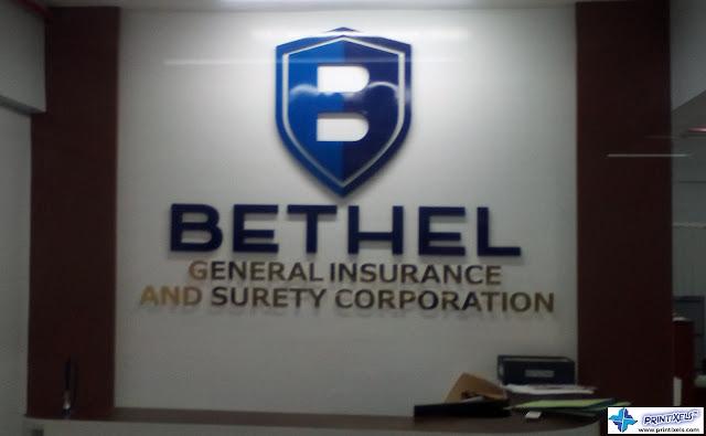 Acrylic Reception Signage - Bethel