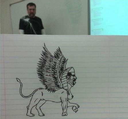 un-etudiant-dessine-son-prof-durant-les-cours-3 un étudiant dessine son professeur pendant les cours quand il s'ennuie