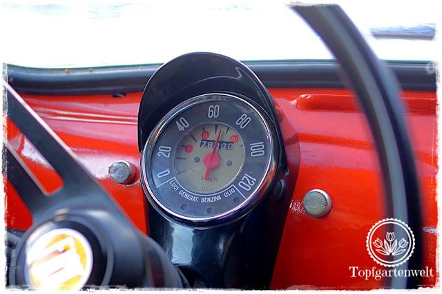 Gartenblog Topfgartenwelt Fiat 500 Oldtimer: bei unseren letzten Ausfahrt für dieses Jahr mit dem Fiat 500 erreichte der Kilometerstand 78.000