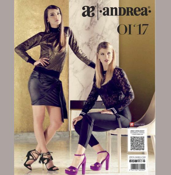 Catalogo de sandalias Andrea Damas Otoño Invierno 2017