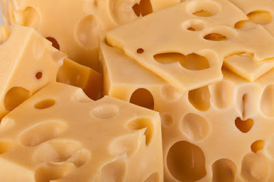 Swiss cheese with holes in