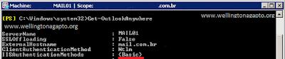 Nem todos os métodos de autenticação necessários foram encontrados é apresentado ao executarmos um  Microsoft Remote Connectivity Analyzer