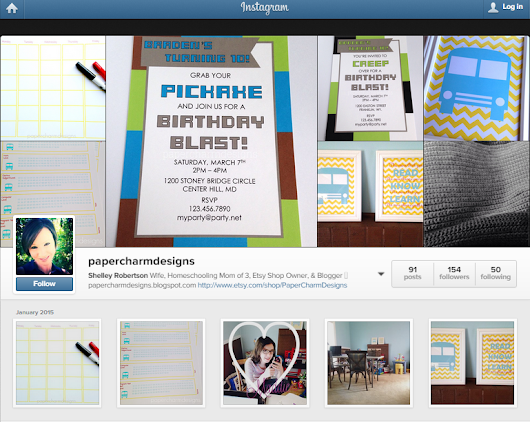 Join PaperCharm on Instagram