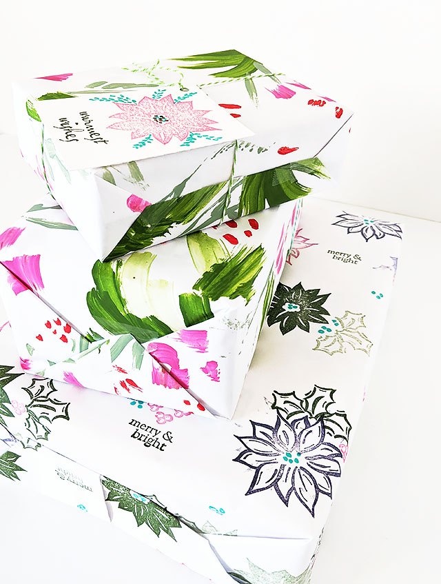 Hand Painted Christmas Wrapping Paper DIY
