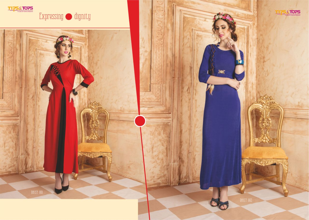 DAISY-New Arrival Designer Summer Cool Embroidered Kurti