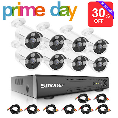 【2019 New】16 Channel Security Camera System,SMONET 5-in-1 HD DVR Security Camera System(1TB Hard Drive),8pcs 1080P Outdoor Home Security Cameras,DVR Kits for Easy Remote Monitoring,Super Night Vision