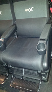 4DX Theater seat at the Regal Cinemas at LA Live in Los Angeles.