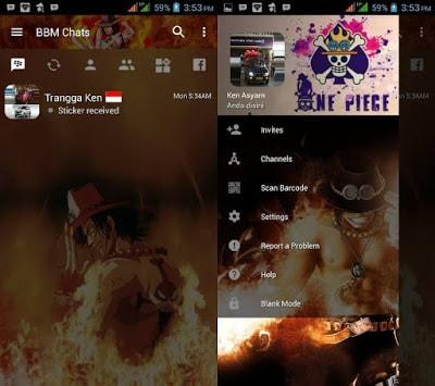 BBM Mod One Piece Portgas D Ace v3.2.0.6 Apk Terbaru