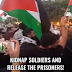 Árabes israelíes protestan exigiendo el secuestro de soldados de Israel