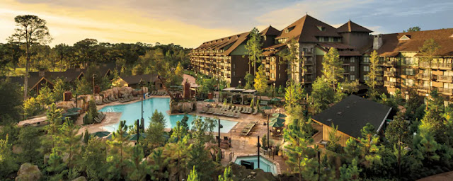 Recalling the 1860's railroad hotels of the American West, Boulder Ridge Villas offer the comforts of home amid the rustic beauty of Disney's Wilderness Lodge.