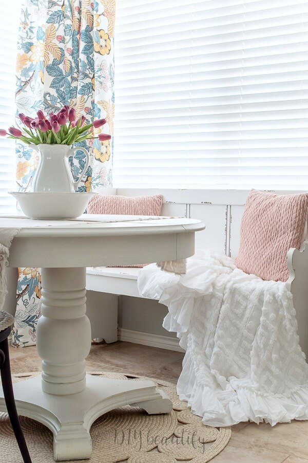 white chalk painted table