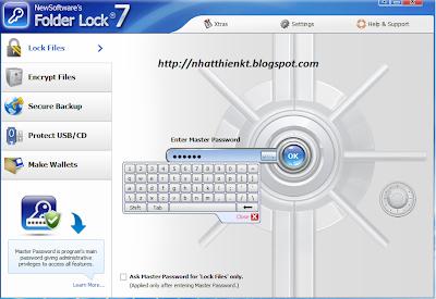 Folder Lock 7.2.2 Full key (new) - Phần mềm khóa thư mục an toàn