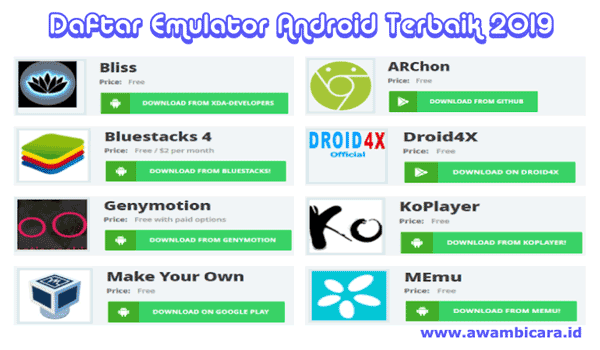 daftar emulator android terbaik 2019