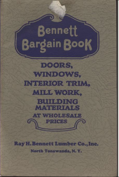 Bennett Homes building supplies Bargain Book 1925 cover