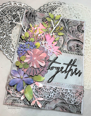 Sara Emily Barker https://sarascloset1.blogspot.com/2019/07/togethera-metallic-wedding-card-for.html Tim HOltz 3D Embossed Wedding Card 9