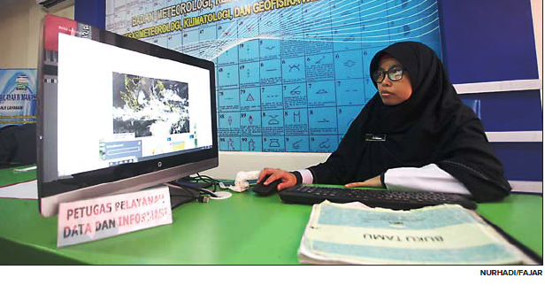 Kantor Badan Meteorologi, Klimatologi, dan Geofisika(BMKG) WilayahIV Makassar di Jl Prof Abdurahman A Basalamah No.4, Kota Makassar