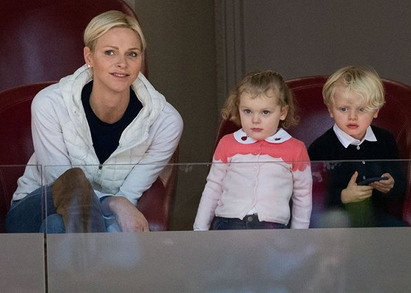 Princess Charlene, Crown Prince Jacques and Princess Gabriella of Monaco