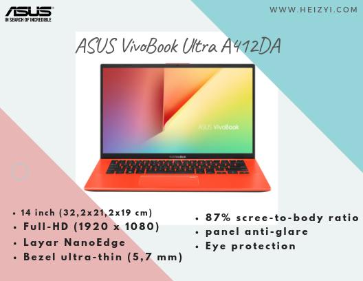 Tampilan Layar ASUS VivoBook Ultra A412DA