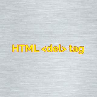 HTML <del> tag