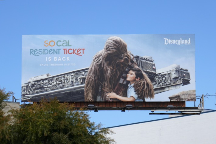 SoCal Resident Ticket Disneyland Chewbacca billboard