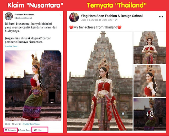 "Ferdinand Unggah Foto Diklaim ""Budaya Nusantara"", Ternyata Foto Artis ""Thailand"", Netizen: GOBLOK dipamerin tiap waktu"