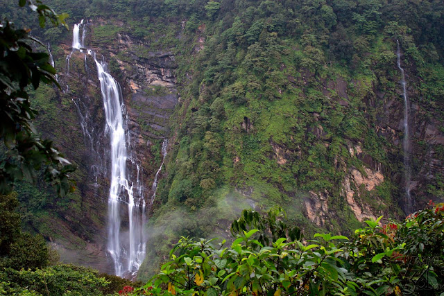 Gowrishankara falls, which also falls from an height similar to Jog falls about 960ft