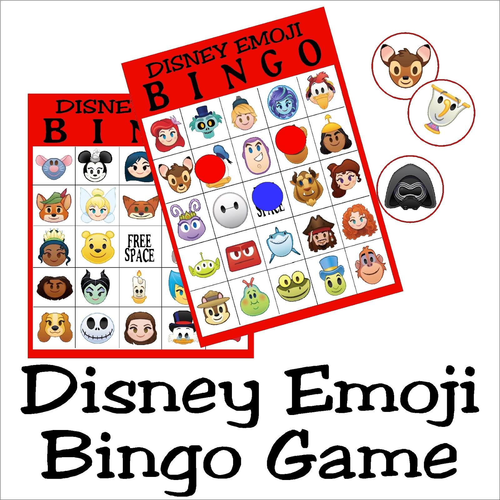 Diy Party Mom Disney Emoji Bingo Game Printable