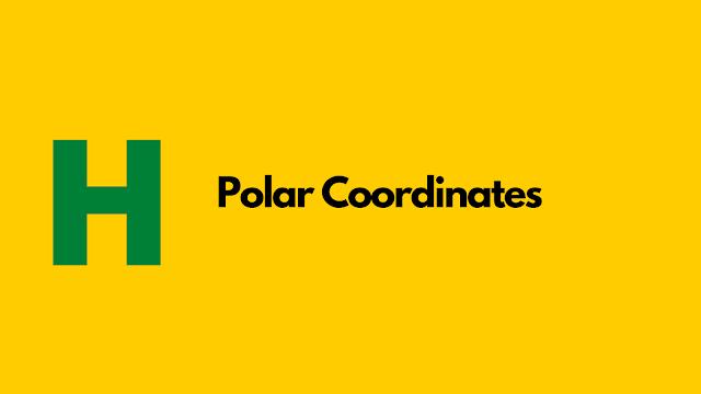 HackerRank Polar Coordinates in python problem solution