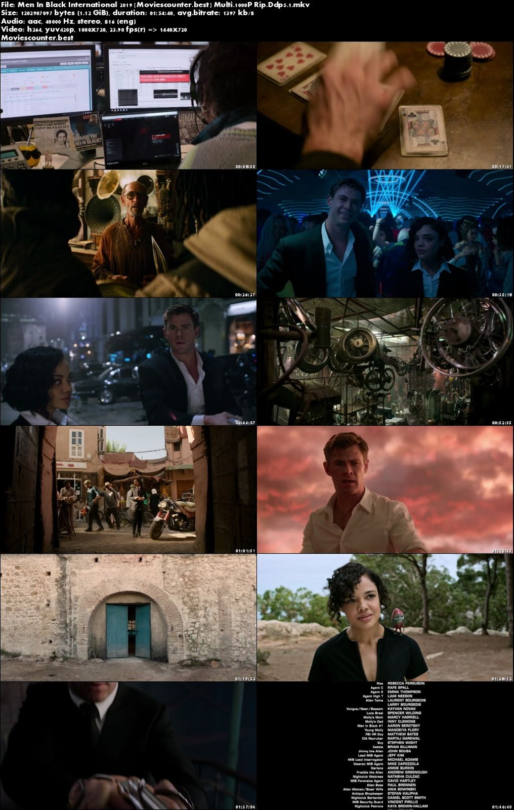 Screen shots Men in Black: International 2019 English HD 720p