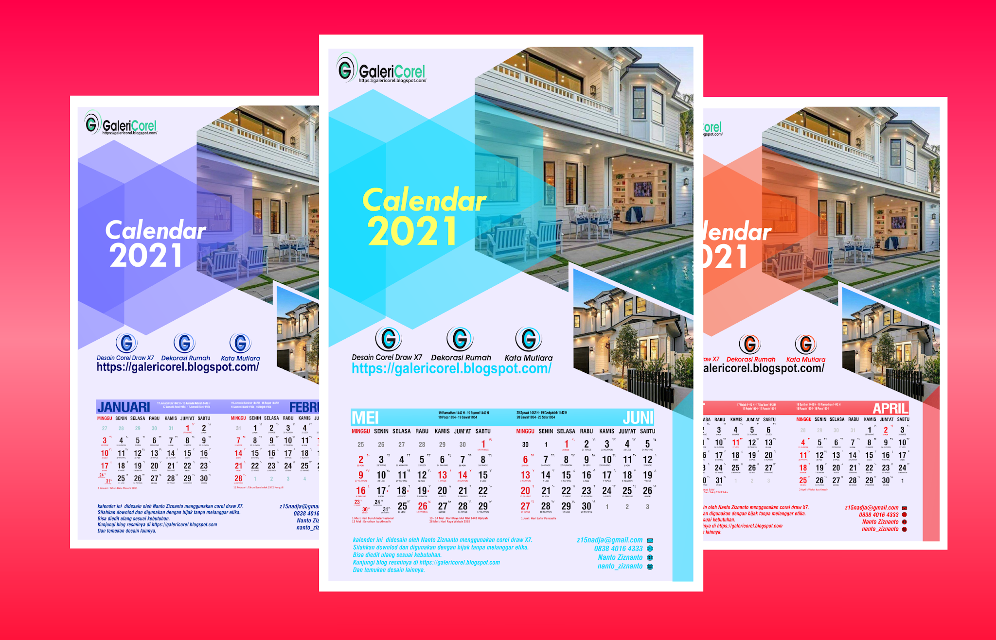 Kalender Dinding 2021 Terbaru