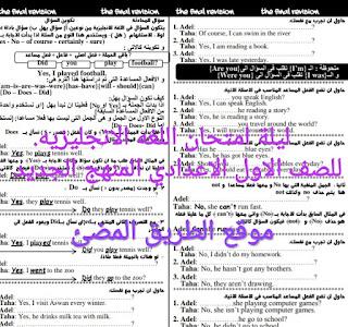 مراجعة ليلة الامتحان في اللغه الانجليزيه للصف الاول الاعدادي منهج 2020