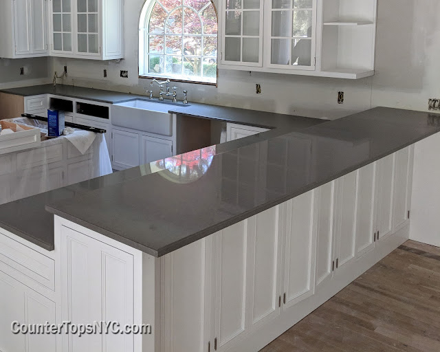 white kitchens with grey countertops