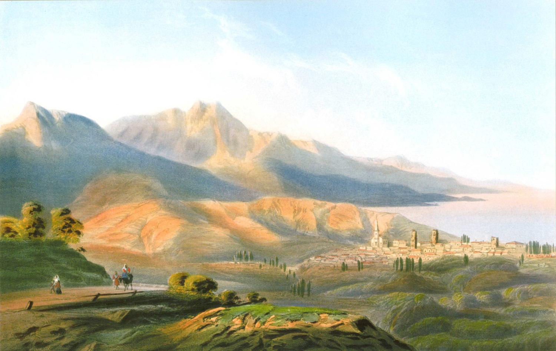 Алушта. Картина Карла Боссоли