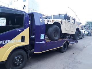 Pengiriman Mobil Menggunakan Towing Atau Yang Lebih Sering Dengan Derek Gendong Dari Jakarta Sampai Rembang.
