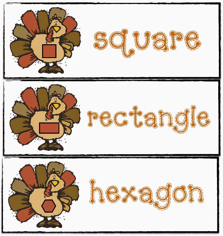Classroom Freebies Thanksgiving Shape Up