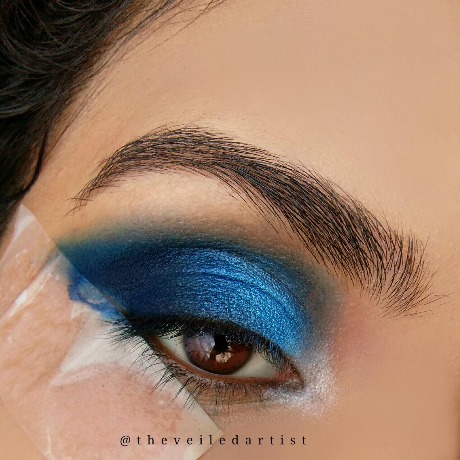 Fun Editorial Style Blue Ombre Eyes Eyeshadow Tutorialbeginner