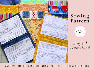 Vaccination Record Card Holder Sewing Pattern