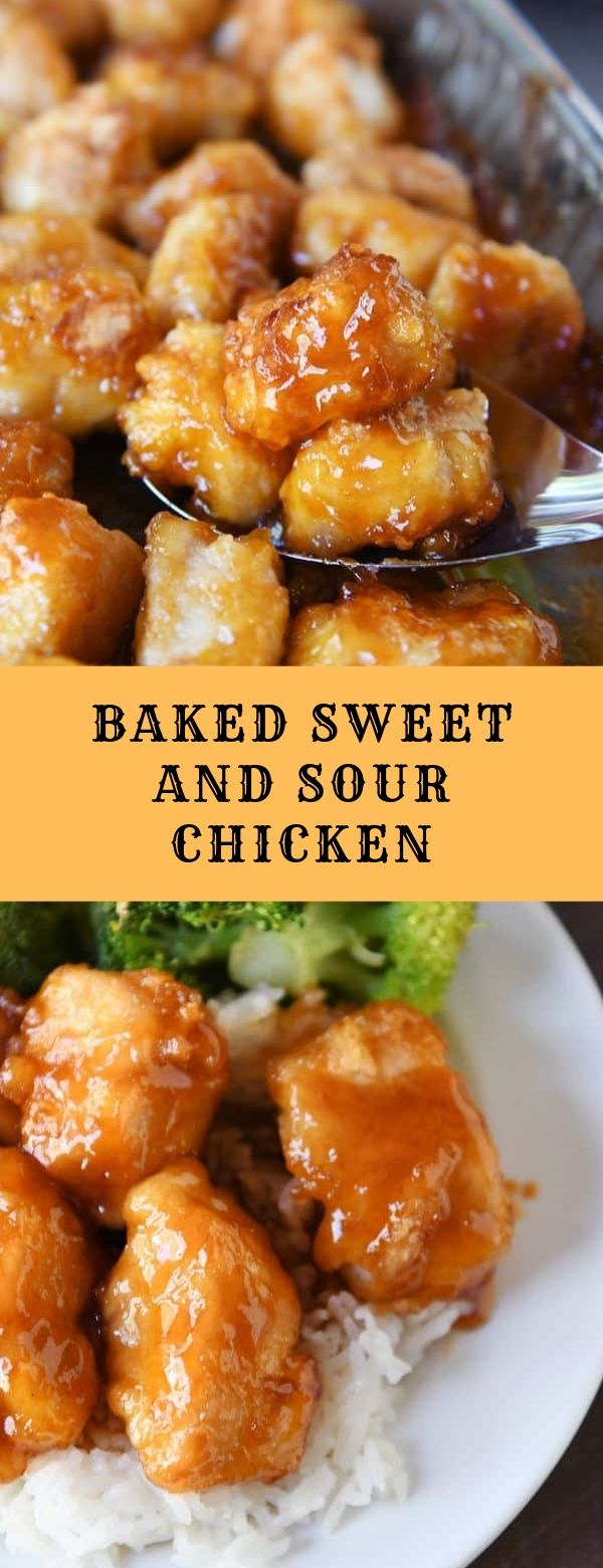 BAKED SWEET AND SOUR CHICKEN #baked #chicken