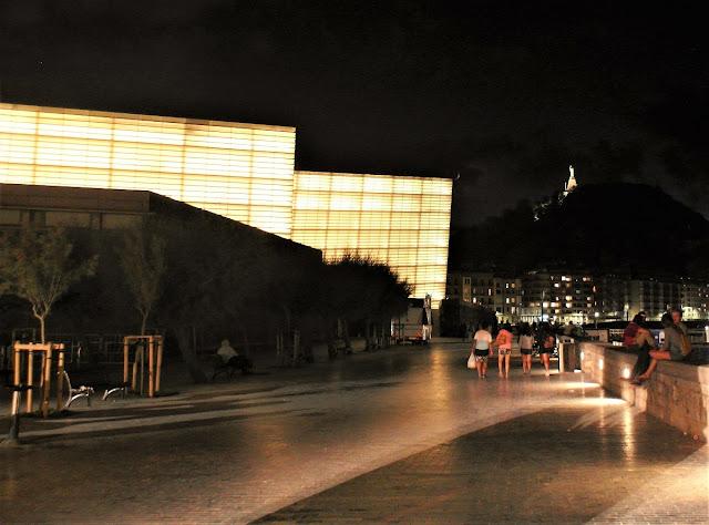 San Sebastian at night