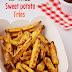 Air-fried sweet potato fries / 2 ways to make Air-fried sweet potatoes/ recipes with video / Air fryer recipes