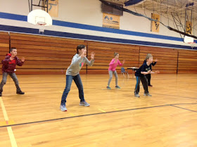 carly's pe games volleyball / newcomb and germ ball