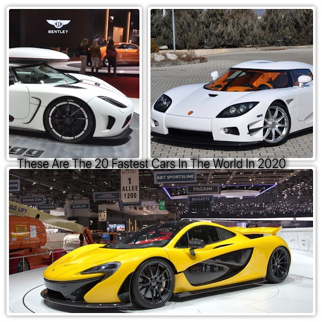 These Are The 20 Fastest Cars In The World In 2020