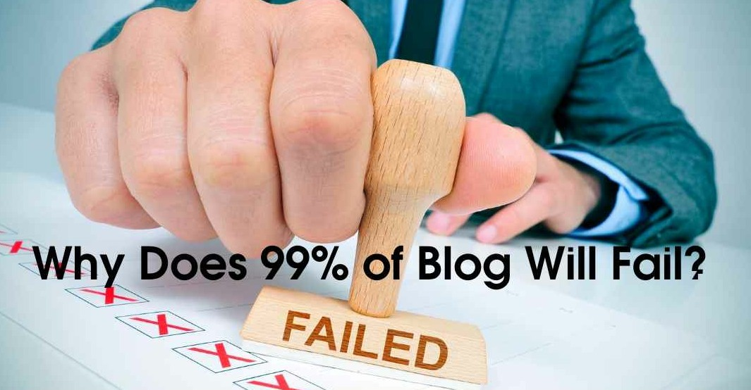 percentage of blogs that fail