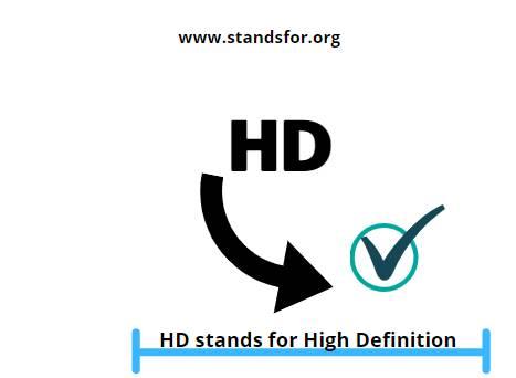 HD-High  definition